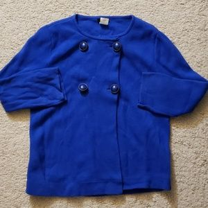 J Crew Women Size XS Royal Blue Light Jacket